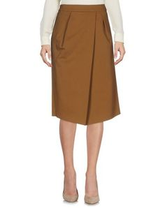DRIES VAN NOTEN Knee Length Skirt. #driesvannoten #cloth #dress #top #skirt #pant #coat #jacket #jecket #beachwear #