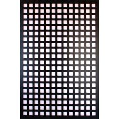 Acurio Latticeworks 1/4 in. x 32 in. x 4 ft. Black Square Vinyl Decor Panel-3248PVCBK-SQR at The Home Depot