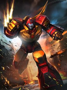 Autobot Leader Rodimus Prime Artwork From Transformers Legends Game