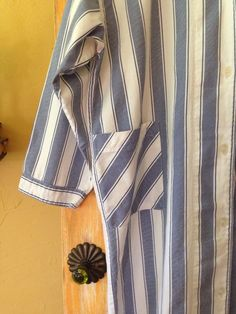 Womens Vintage Cotton Nightshirt Chore Wear Shirt magnolia _dawn #Unknown #ButtonDownNightshirt #Casual