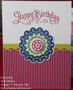 quintessential flower1 363x450 Quint Essential Flower from Stampin Up! from Stamping Imperfection.