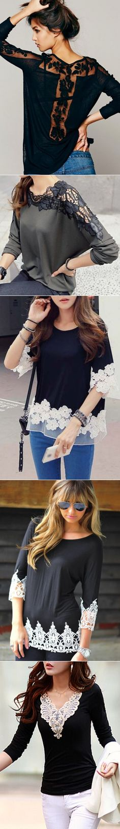 SWEATER, T-SHIRT AND LACE, CHANGES...♥ Deniz ♥