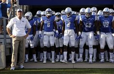 """""""The players explained to me that the puppy urinated inside and they were simply spanking it as a form of discipline,"""" MTSU head coach Rick Stockstill, left, said. (AP Photo/Mark Humphrey)  Two Middle Tennessee football players have been suspended for an alleged incident of animal cruelty....  http://usa.swengen.com/video-of-puppy-abuse-gets-college-football-players-suspended/"""