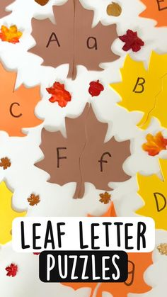 Toddler Learning Activities, Preschool Learning Activities, Alphabet Activities, Fun Learning, Fall Preschool, Preschool Crafts, Kindergarten Learning, Teaching Kids, Early Education
