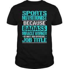 SPORTS NUTRITIONIST Because BADASS Miracle Worker Isn't An Official Job Title…