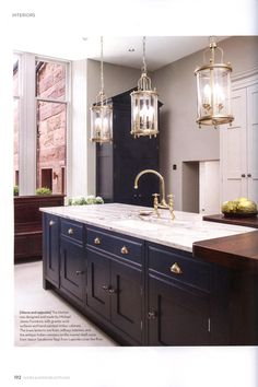Sandstone flooring from Lapicida covers the floor of the kitchen and Marble from Lapicida adds luxury to the en-suite. http://www.lapicida.com/ Homes & Interiors Scotland September & October 2016