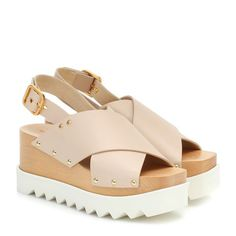 Tap into Stella McCartney's consistently fresh aesthetic with the beige Elyse sandals. Set on lugged platform soles, this pair features uppers cut from the label's signature alter nappa with a crossover front, slingback . Rugby Sport, Kanban Board, Outfit Zusammenstellen, Rubber Sandals, Ancient Greek Sandals, Stella Mccartney Elyse, Alternative Fashion, Fashion Sketches, Wedge Heels
