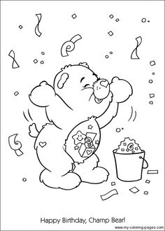See More Care Bears Coloring 110
