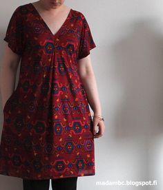 Käsityöblogi, jossa tehdään itse kaikkea mitä vain voi itse tehdä. Kierrätysideoita pukeutumisesta sisustukseen! Sewing Hacks, Arts And Crafts, Short Sleeve Dresses, Textiles, Knitting, Tees, Fabric, Pattern, Diy