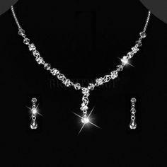 Hochzeitsschmuck Brautschmuck Collier Ohrringe Strass Kristallsteine