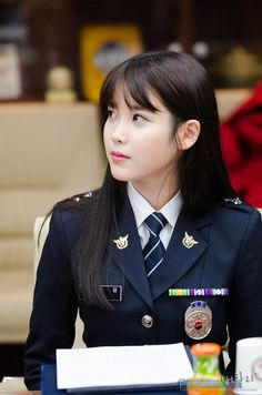 8 Gorgeous Photos Of IU The Senior Police Officer! Korean Women, Korean Girl, Korean Beauty, Asian Beauty, The Rok, Female Police Officers, Military Women, Asian Celebrities, Girls Uniforms
