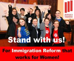 Share this image if you stand with us for immigration reform that works for women!