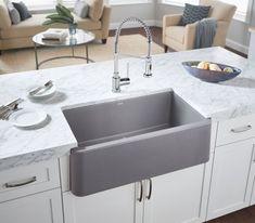 Charming Apron Front Farmhouse Granite Sink Silgranite