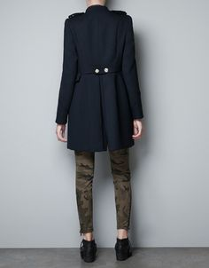 MILITARY COAT WITH GOLD BUTTONS - Coats - Woman - ZARA United Kingdom