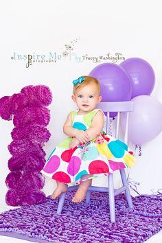 "First birthday photo. Big fluffy ""1""! First Year Photos, First Birthday Photos, Birthday Ideas, Children Photography, Photography Ideas, Cake Smash, Baby Pictures, Cool Photos, First Birthdays"