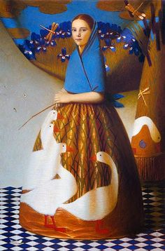 Andrey Remnev Silk birds 2007, 130x90, oil on canvas