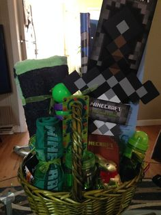 Gifts for kids easy easter basket ideas customized minecraft minecraft negle Images