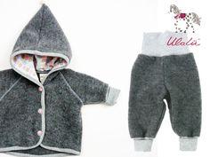 Sets - Baby Ausfahrgarnitur Bio Wollfleece - ein Designerstück von Ulalue-Kinderdinge bei DaWanda