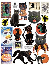 La feuille de Black Cat Collage