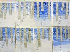 Kässä ja kuvis: Talviset koivut Art For Kids, Crafts For Kids, Art Activities, Finland, Snowflakes, Inspiration, Handmade, Craft Ideas, Education