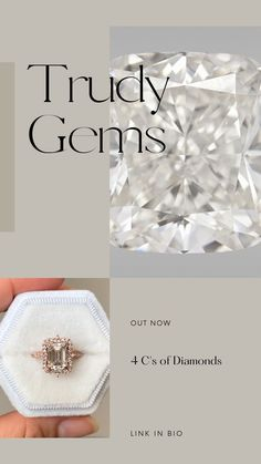 Learn about the 4 c's of diamonds in my blog!