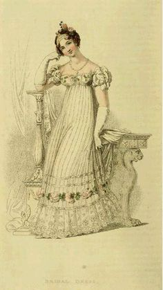 Bridal Dress, 1816, Ackermann Repository of Arts - Internet Archive  - Click the pic and read the article as well is really interesting!!!