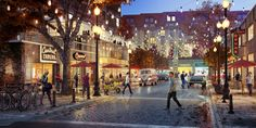 Inspiration - The Magic Hour Vol. Brick Rendering, Exterior Rendering, Healthcare Architecture, Commercial Architecture, 3d Architectural Visualization, Architecture Visualization, Shopping Street, Street Mall, Concept Architecture
