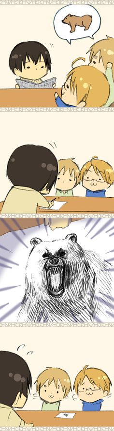 Hetalia - Chibi England, America, Japan, and China : The Bear Part 3 / 5