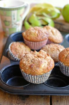 Apple Pie Muffins for Bramley Apple Week Fun Baking Recipes, Dessert Recipes, Apple Desserts, Brunch Recipes, Cake Recipes, Recipes Dinner, Afternoon Tea Biscuits, Bramley Apple Recipes, Apple Pie Muffins