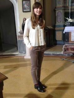 Francesca Lancini presenta Rai Player con una camicia and camicie