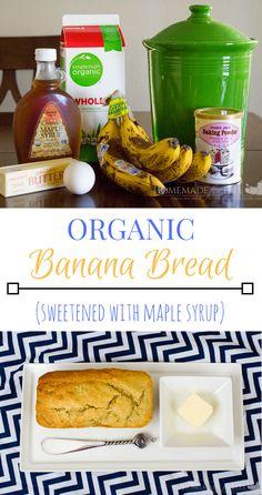 Organic Banana Bread Recipe | homemadeforelle.com