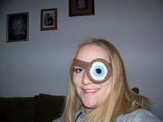 from the world of harry potter...wizardry crochet-style...mad-eye moody eye patch