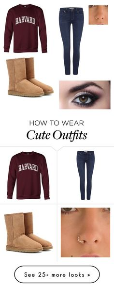 """Cute college outfit"" by averyjay on Polyvore featuring Paige Denim and UGG Australia"
