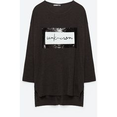 SEQUIN TOP - NEW IN-WOMAN | ZARA United States (170 BRL) via Polyvore featuring tops e sequin top