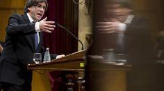 Puigdemont propone en Madrid pactar con el Gobierno la fecha y pregunta del referéndum