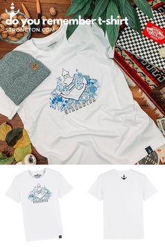 Kannst du dich noch daran erinnern? Mit diesem Design wollte ich die Erinnerung an unsere Kindheit und Jugend hervorrufen. Das T-Shirt wurde aus 100 % Bio-Baumwolle unter fairen Bedingungen produziert. 1€ geht an THE STRONCTON FOUNDATION. Mehr Inspiration und Outfit Ideen, nachhaltige Mode, Accessoires und brandneue Designs findest du bei Stroncton im Online Shop #tshirt #stroncton #stronctonfamily #heartoverbucks #sommer #summer #apparel #klamotten #fair #sustainable #nachhaltig #mens Do You Remember, Designs, Vans, Inspiration, Collection, Sustainable Fashion, Sustainability, Young Adults, Childhood