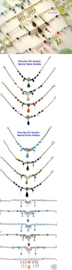 Anklets 110634: 30 Ankle Bracelets Peru Stones Handmade Jewelry Anklets BUY IT NOW ONLY: $51.89
