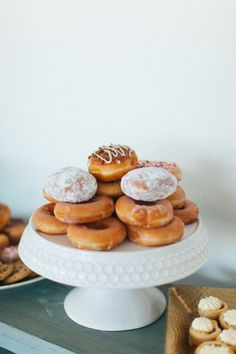 Donuts on dessert bar | Texture Photo | The Hive Knoxville