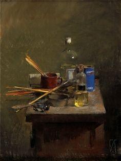 FELIPE SANTAMANS Artist's Table II