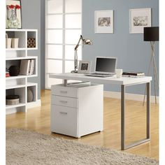 Found it at AllModern - Pascua 3 Space Storage Drawers Computer Desk