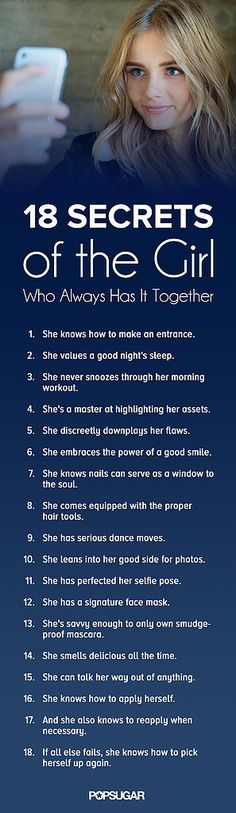 19 Secrets of the Girl Who Always Has It Together