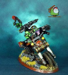 Space Ork Wazdakka Gutzmek conversion
