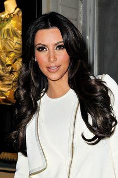 Kim Kardashian Long Curls - Kim Kardashian Hair - StyleBistro