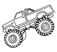 86 Best Monster Truck Coloring Pages Images Bigfoot Coloring