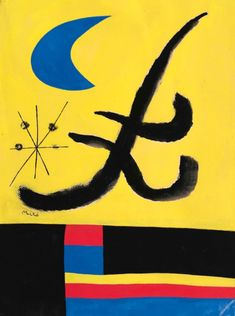 Joan Miró – La lune bleue, 1955