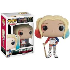 From Suicide Squad, Harley Quinn as a stylized POP vinyl from Funko!Stylized collectible stands 3 inches tall, perfect for any Suicide Squad fan! Figurine Disney, Pop Figurine, Deadshot, Pop Vinyl Figures, Anime Pop Figures, Katana, Héros Dc Comics, Harley Quinn Et Le Joker, Harey Quinn