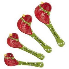 Loved these Red Bird Measuring Spoons Baking Items, Cute Kitchen, Measuring Spoons, Old And New, Christmas Time, Red, Gifts, Utensils, Party Favors