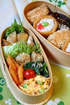 flavored boiled rice wrapped in fried bean curd