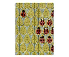 Handgetufteter Teppich Beetles, 91 x 152 cm