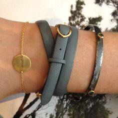 Love the disc bracelet!